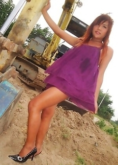 Self shot candid flashing and beach pics from Pattaya Ladyboy Tonkra