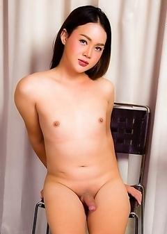 Blossom is a hot sexy ladyboy with a juicy body, big big ass and a rock hard uncut cock!