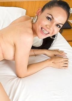 Mature Kathoey One strokes her Ladyboy meat and cums