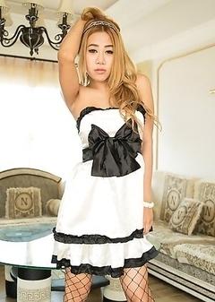 Ladyboy Natty - Classy Dress Masturbation