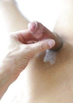 Pretty Asian ladyboy Gif with erect penis fucked in ass