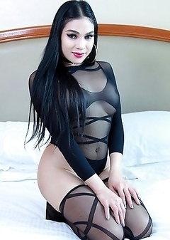 TS Filipina in Sexy Stockings
