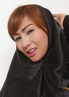 Yet another shy veiled ladyboy showing her goodies and masturbating!
